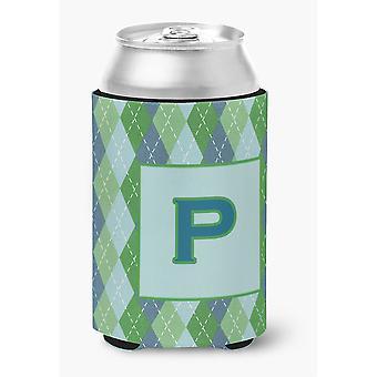 """Ersten Buchstaben """"P"""" Monogramm - blau Argoyle-Dose oder Flasche Getränk Isolator Hugger"""