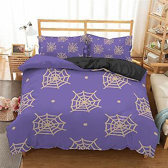 Spider Web Printed 3d Bedding Set