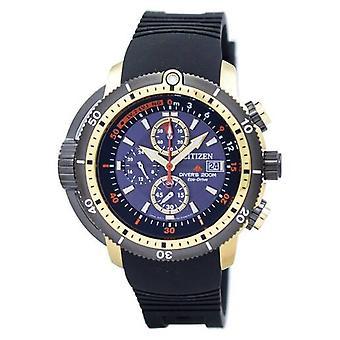 אזרח פרומאסטר אקוולנד צוללן אקו כונן הכרונוגרף Bj2124-14e גברים&s שעון