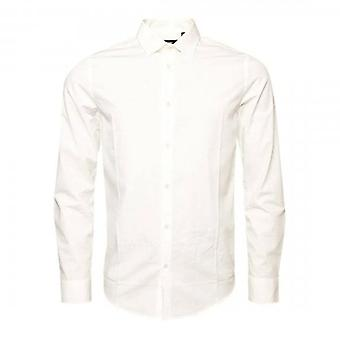 Superdry Modern Tailor L/S Overhemd Wit 01C