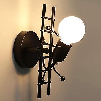 Humanoide kreative Wandleuchte Innenwand Lampe moderne Wandleuchte Licht Kunst Dekor Eisen e27 Basis für Schlafzimmer Kinderzimmer Küche