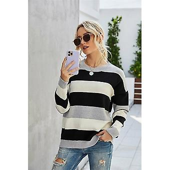 Women's Sweater Pullover Vintage Striped Jumper