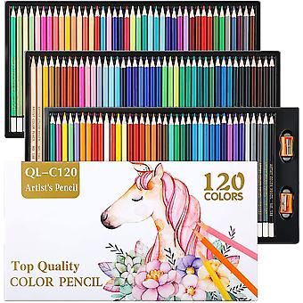 Professional Pencils for Adults  Kids, 120 Art Coloured Pencils with 2 Pcs Pencil Sharpeners