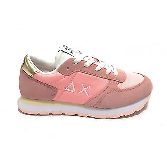 Shoes Baby Sun68 Sneaker Girl's Ally Nylon Solid Suede Pink Zs21su17 Z31401