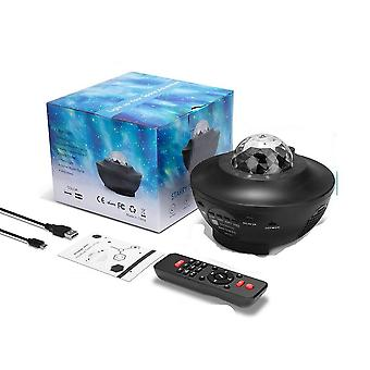 Galaxy Starry- Night Lamp Led, Star Ocean, Wave Projector With Music Bluetooth,