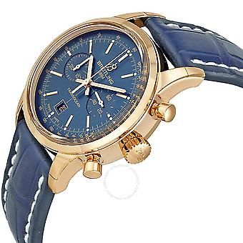 Breitling Transocean Chronograph 38 Blue Dial 18kt Rose Gold Men's Watch R4131012-C863BLCD