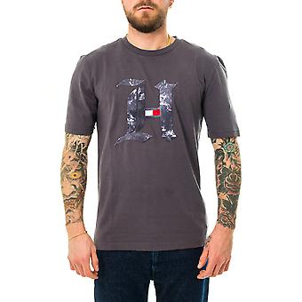 Camiseta masculina tommy jeans lh mármore h tee mw0mw15296.ptw