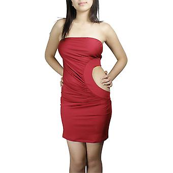 Chic Star Sexy Cut-Out Mini Dress In Red