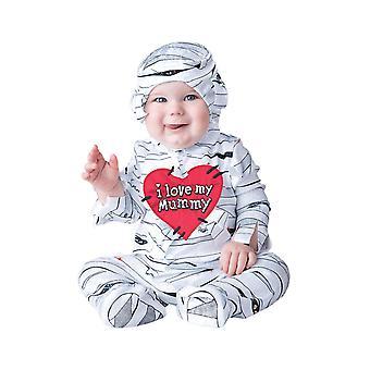 Kids Baby I Love My Mummy Egyptian Halloween Fancy Dress Costume