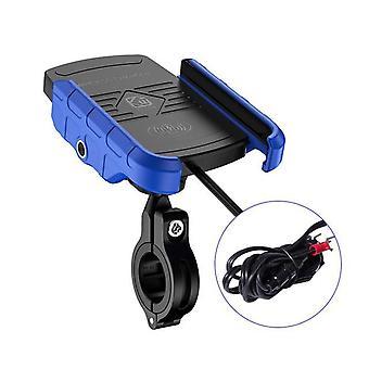 Indehavere af trådløse moto-opladere til trådløse opladere(blå)