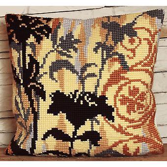 Samling d'Art Cross Stitch Kit: Kudde: Silhuett till vänster