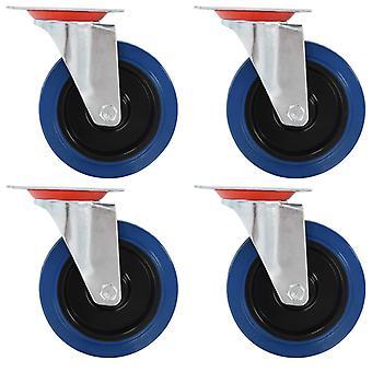 vidaXL 8 pcs. steering wheels 125 mm