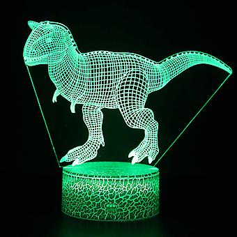 Lumière de nuit 3D de LED, décoration de bureau de 16 couleurs, contact d'USB et lampe de nuit à distance, meilleur cadeau de Noël d'anniversaire pour des garçons, des filles, des enfants