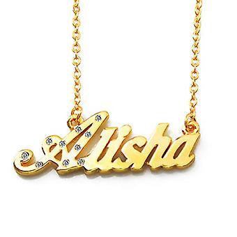 KL Alisha Custom Nimi 18 karaatti Kullattu kaulakoru Säädettävä Ketju 16 19 cm Ilmainen Lahjalaatikko