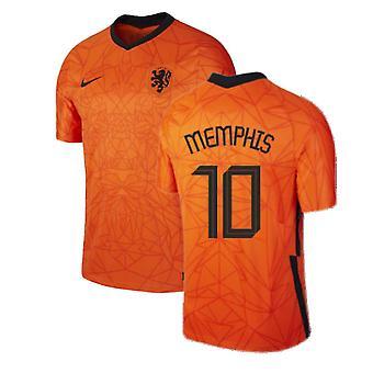 2020-2021 הולנד בית נייקי חולצת כדורגל (ממפיס 10)