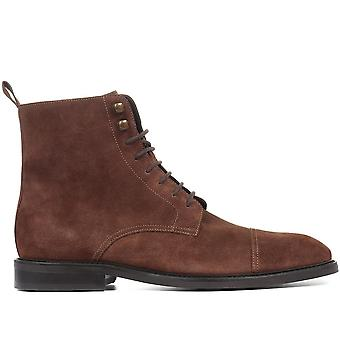Jones Bootmaker Mens Drayton Leather Lace-Up Ankle Boots