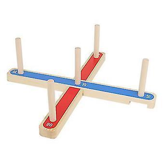 Drewniany pierścień dziewki dla dzieci toss gry dla dzieci x746