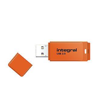 Lecteur flash usb3.0 intégral de 64 Go (Memory Stick) Néon Orange