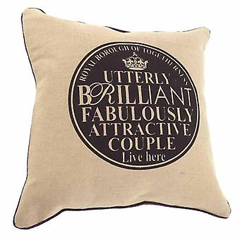 Cushion Couple Plaque Print Inc Fill By Heaven Sends