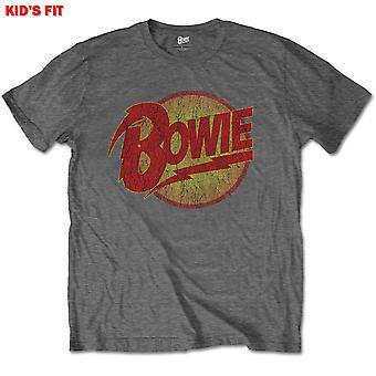 David Bowie - Diamond Dogs Logo Enfants 3 - 4 Ans T-Shirt - Gris