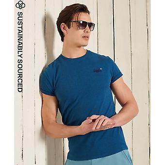 T-shirt ricamo vintage superdry Orange Label - Ketion Blue Marl