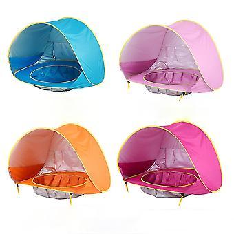 Ruusunpunainen vauva ranta teltta vedenpitävä pop up uima-allas ulkona camping sunshade ranta fa1075