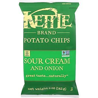 Kettle Foods Chip Pto Sour Crm Onion & Chv, Case of 15 X 5 Oz