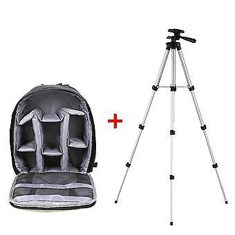 новый a-серый и штатив многофункциональная камера рюкзак видео цифровая dslr сумка водонепроницаемый открытый sm36839