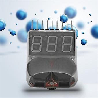 1-8s Lipo/Li-Ion/fe Batteriespannung 2in1 Tester Niederspannungs-Buzzer-Alarm