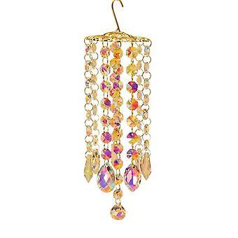 Crystal Wind Chimes Pendant Hanging Drops For Garden Window Wedding Curtain Chandelier Garden Decor