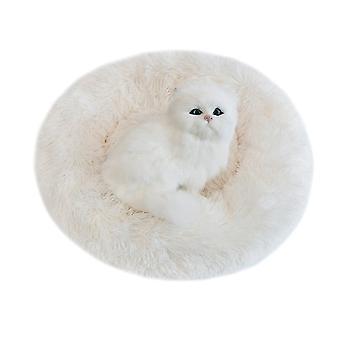 Pet Dog Bed Fluffy Soft Plush Donut Cuddler Round Dog Kennel Ultra Soft Washable Dog Cat Cushion Bed