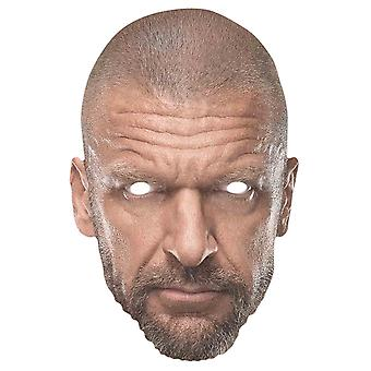 Triple H WWE Brottare Officiell Single 2D Card Party Face Mask