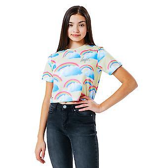 Hype Girls Rainbow Crop T-paita