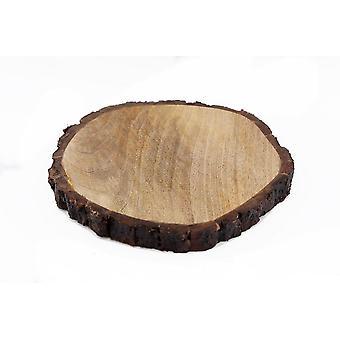 Round Wooden Bark Board Small