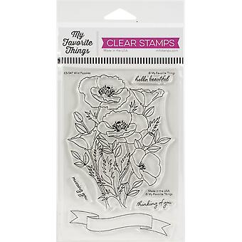 """My Favorite Things Clearly Sentimental Stamps 4""""X6"""" - Wild Poppies"""