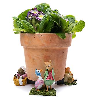 Potty Fötter Beatrix Potter Jemima Puddle-duck Växtkruka Fötter Flerfärgad 3pc