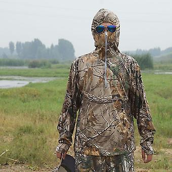 Menn Bionic Fiske T-skjorte Pustende Kamuflasje Skjorte Anti-uv Solbeskyttelse
