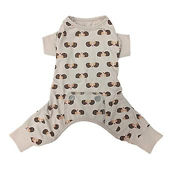 Fashion Pet Hedgehog Dog Pajamas Gray - Small