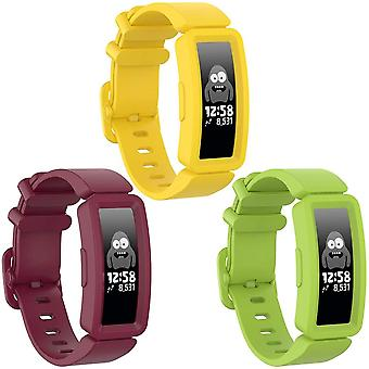 Compatible With Fitbit Ace 2 Strap For Kids 6+,soft Silicone Wristband