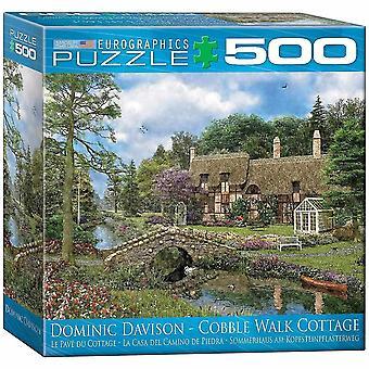 Jigsaw puzzles cobble walk cottage by dominic davidson mo puzzle 500 pieces