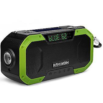 Solar hand-cranked radio, outdoor multi-function emergency radio, bluetooth speaker(Color-6)
