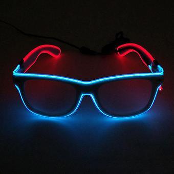 Led Dual Color Valoisat Lasit Neon Party El Wire Lasit valaisevat silmälasit baariklubien osapuolille