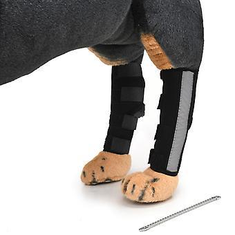 Evago mit reflektierender und Metallunterstützung - extra unterstützende Hundehund Hinterbein Hock Gelenkwickel schützt Wunden, während sie Kompressionsorthese heilen Heilt und