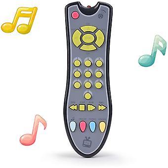 Crianças musicais tv controle remoto toy som luz crianças