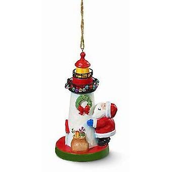 Cape Shore Santa versieren vuurtoren nautische Christmas Ornament hars