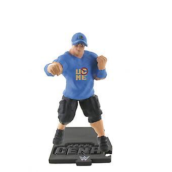 COMANSI WWE Wrestling Mini Figure John Cena Blue Shirt 8 cm