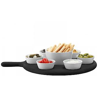 LSA International Paddle Tapas Set - Black Beech - L43cm