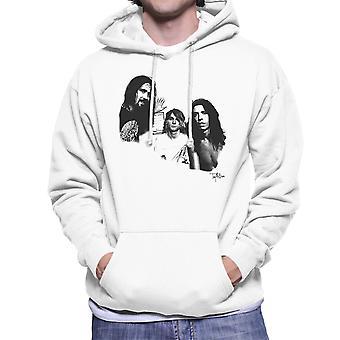 Nirvana Grohl Cobain Novoselic Portrait Men's Hooded Sweatshirt