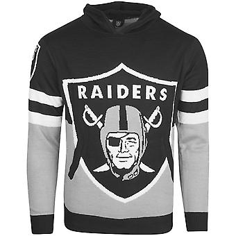 NFL Ugly Sweater Big Logo Knit Hoody - Oakland Raiders