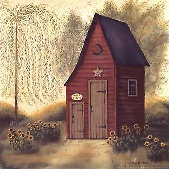 Arte popular Outhouse II Poster Print by Pam Britton (12 x 12)